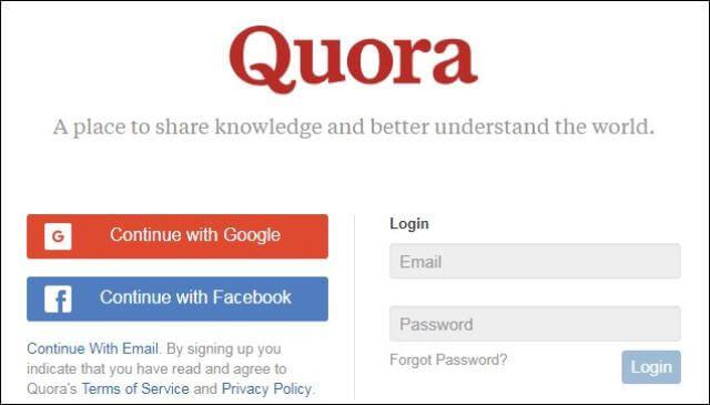Quora Social Media Marketing Website