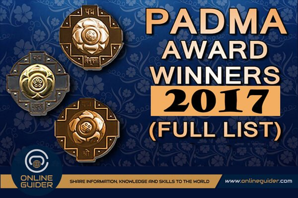 List of Padma Awards Winner for 2017 in India