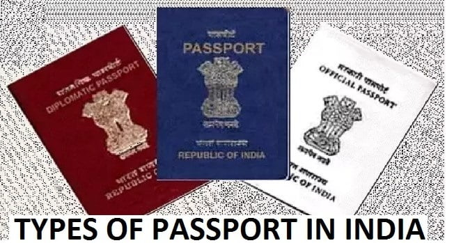 Types of Passport in India with Color